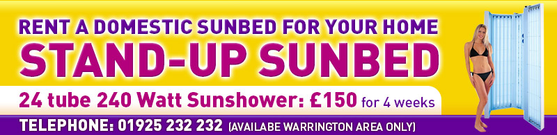 domestic sunbed hire, home sunbed rental, warrington area only single sunbeds, double sunbeds